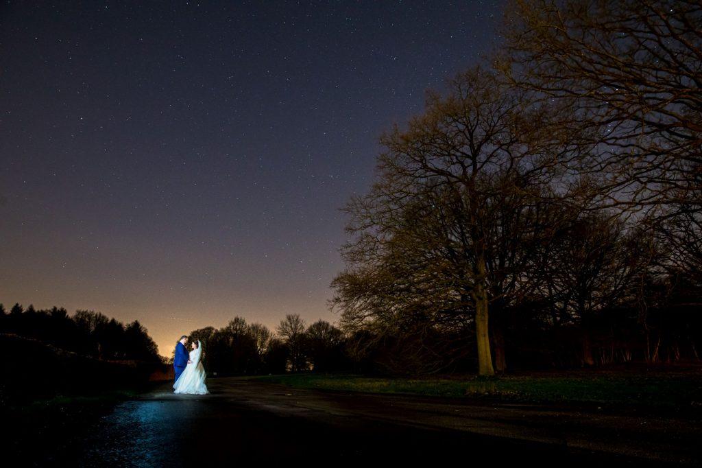 bride groom under starlit sky near york club windsor great park berkshire oxford wedding photographers