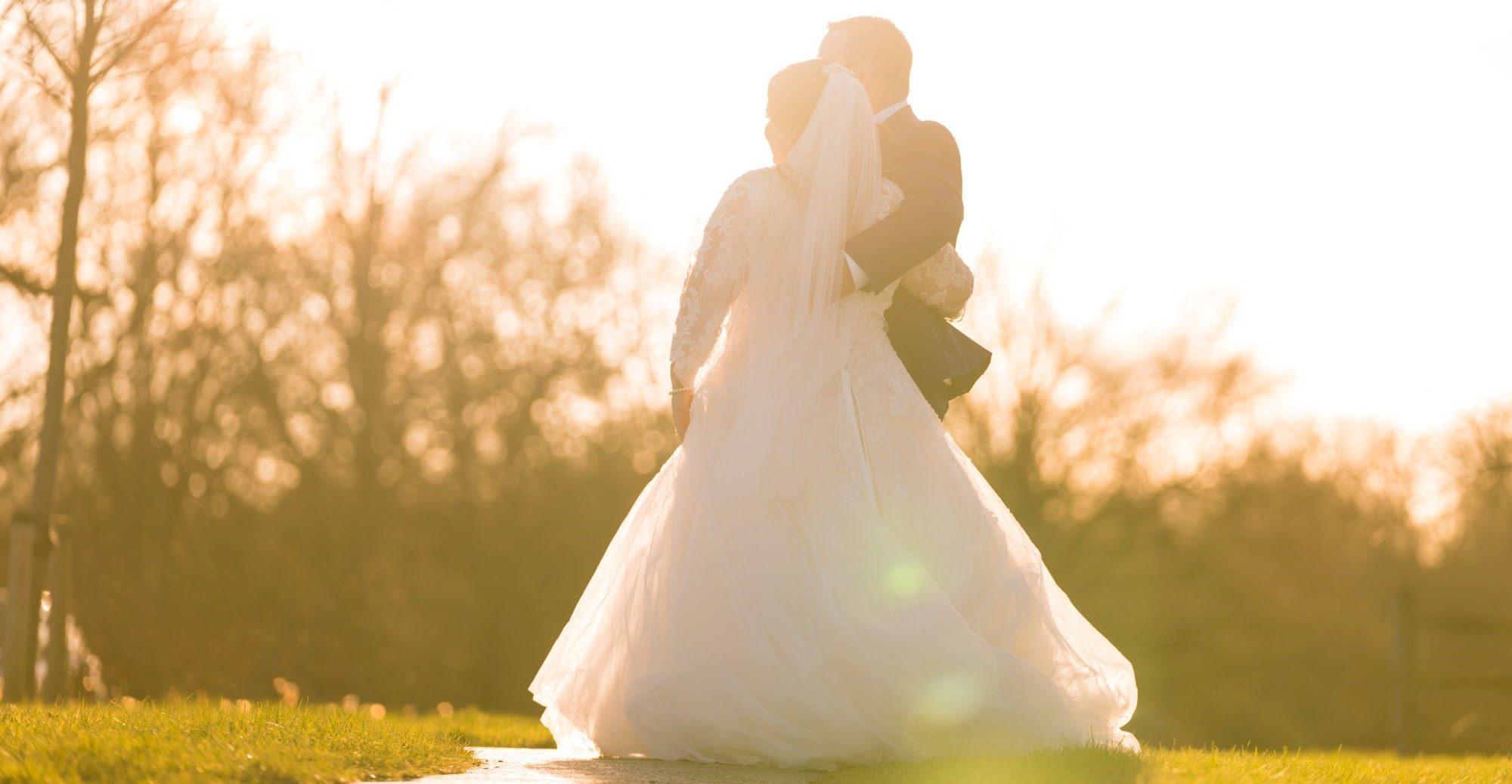 bride groom enjoy sunset near york club windsor great park berkshire oxfordshire wedding photography