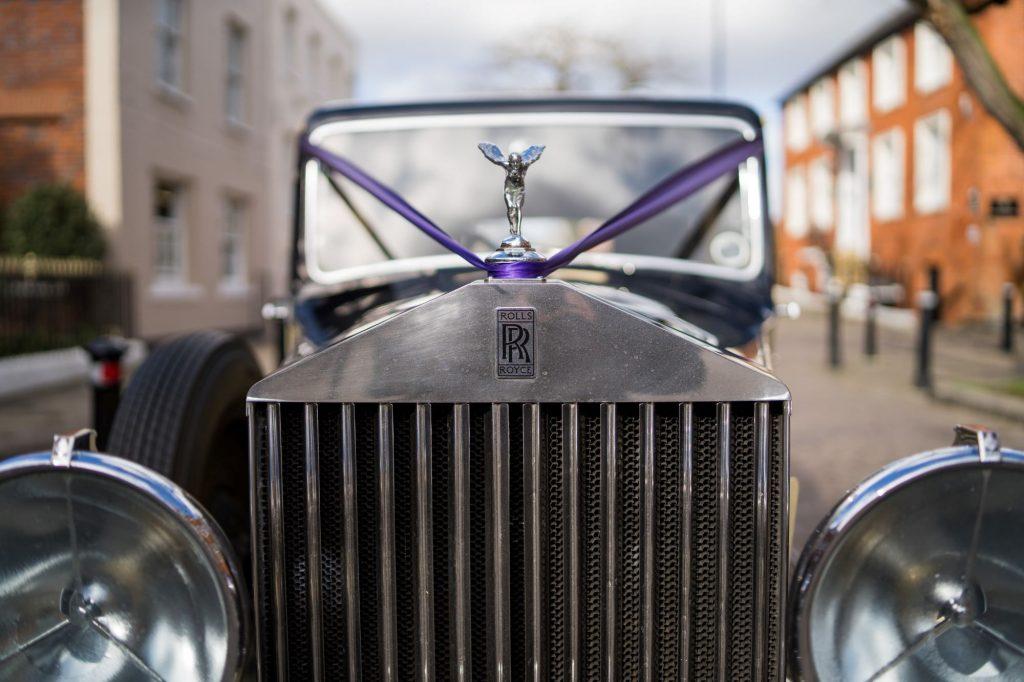 rolls royce bridal car windsor street oxfordshire wedding photographer
