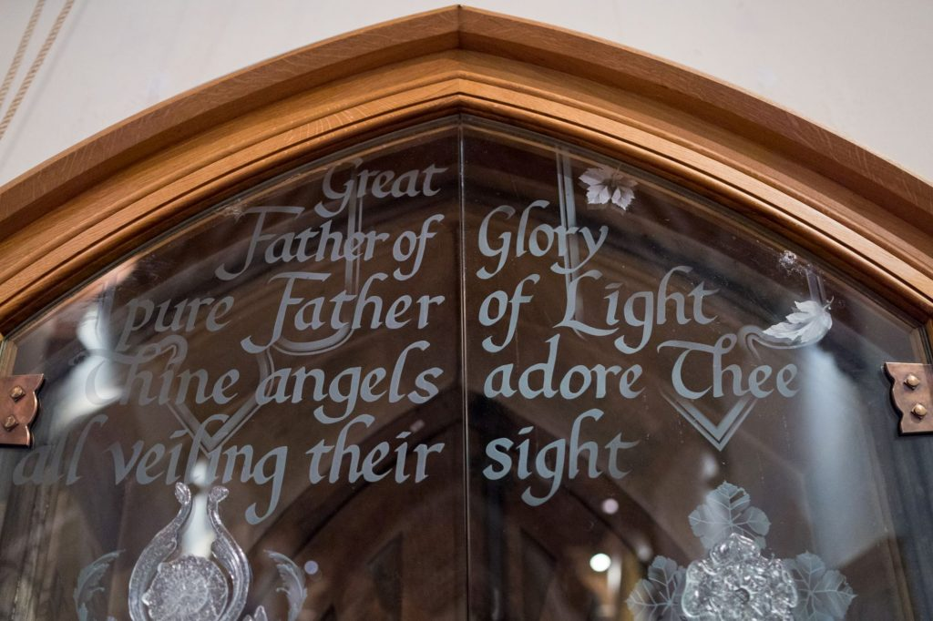 glass inscription royal chapel windsor great park berkshire oxford wedding photographer