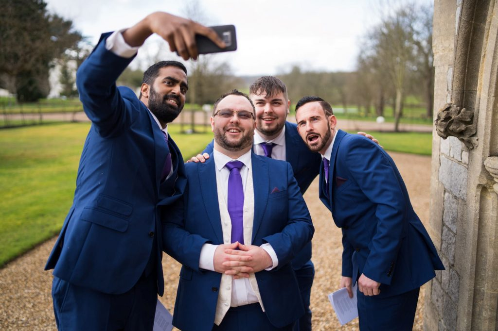 selfie grooms party royal chapel windsor great park berkshire oxfordshire wedding photography