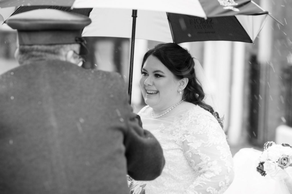 chauffer hods brides umbrella pre marriage ceremony royal chapel windsor great park berkshire oxfordshire wedding photographer