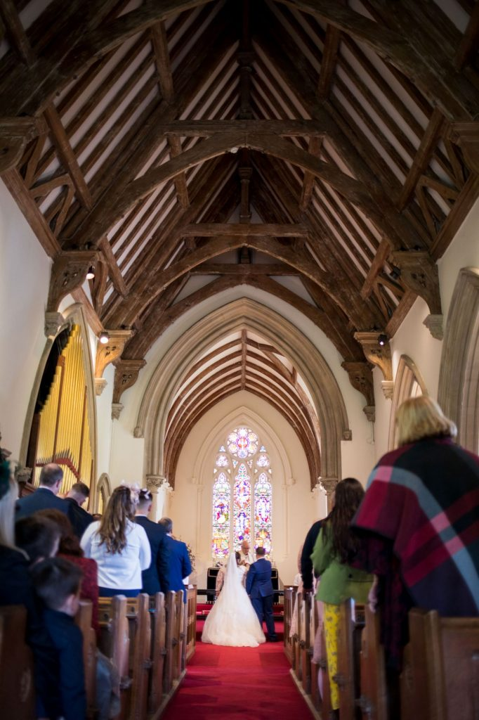 royal chapel beamed ceiling windsor great park berkshire marriage ceremony oxfordshire wedding photography