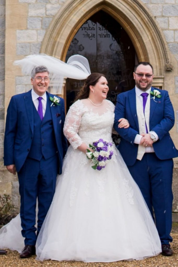 wind catches laughin brides veil royal chapel windsor great park berkshire oxfordshire wedding photographers