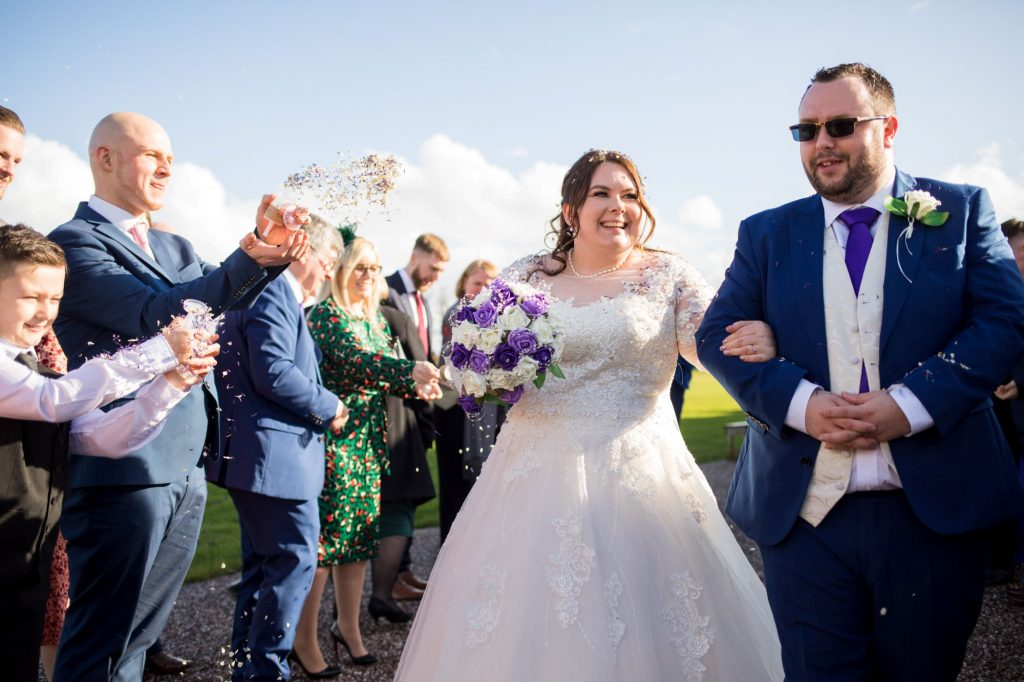 guests confetti shower lineup royal chapel marriage ceremony windsor oxford wedding photographers