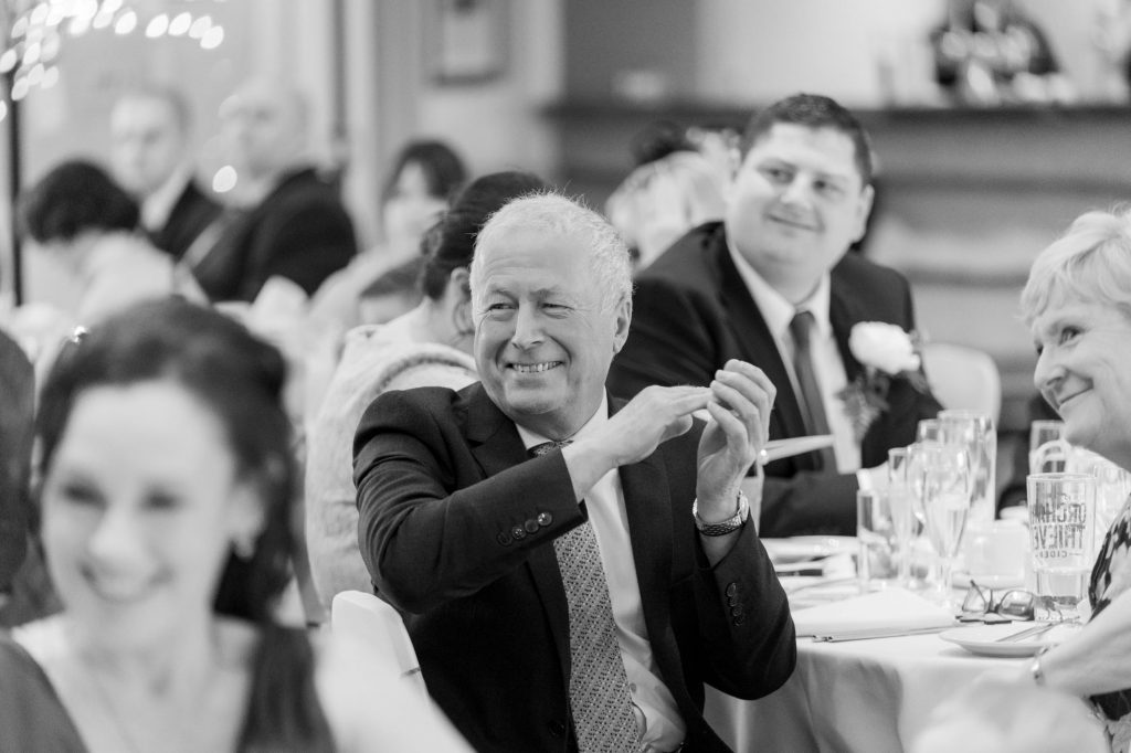 guests listen to father of bride speech york club windsor great park berkshire oxford wedding photographer