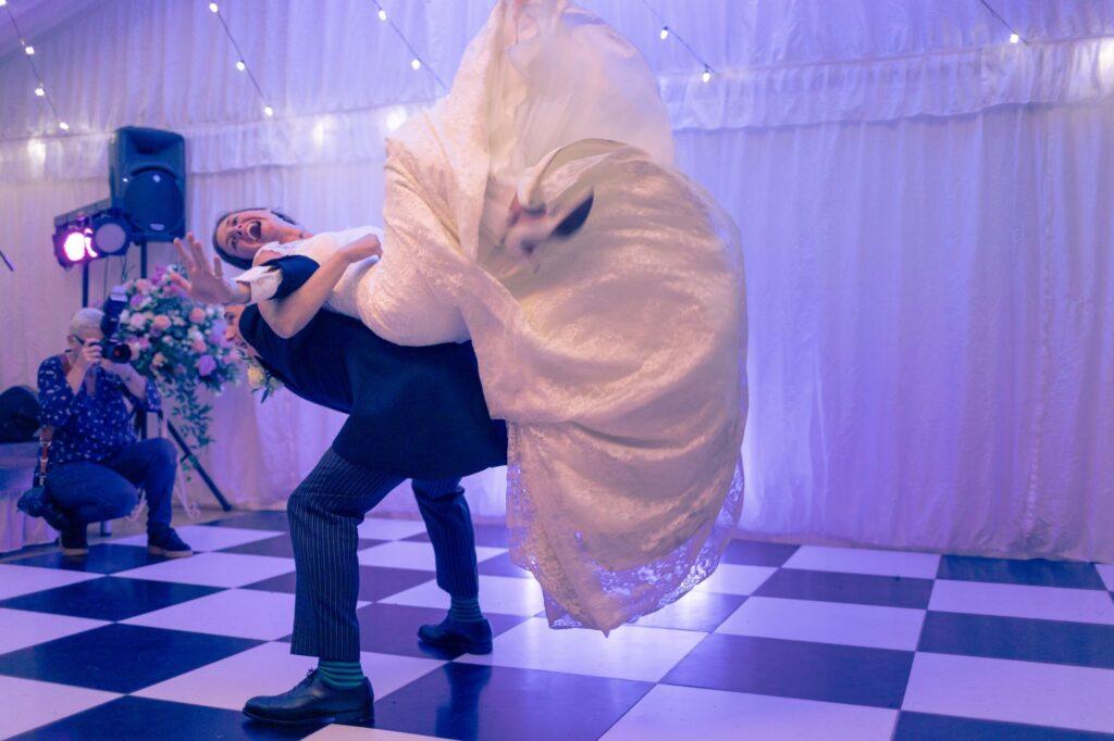 bride groom first dance alderney channel islands oxfordshire destination wedding photography