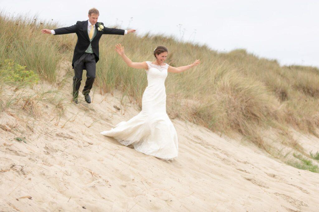 bride groom sand dunes frolics alderney channel islands oxford destination wedding photography