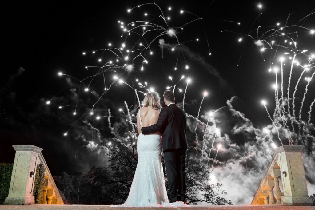 bride grooms spectacular fireworks kilworth house hotel leicestershire oxford wedding photography