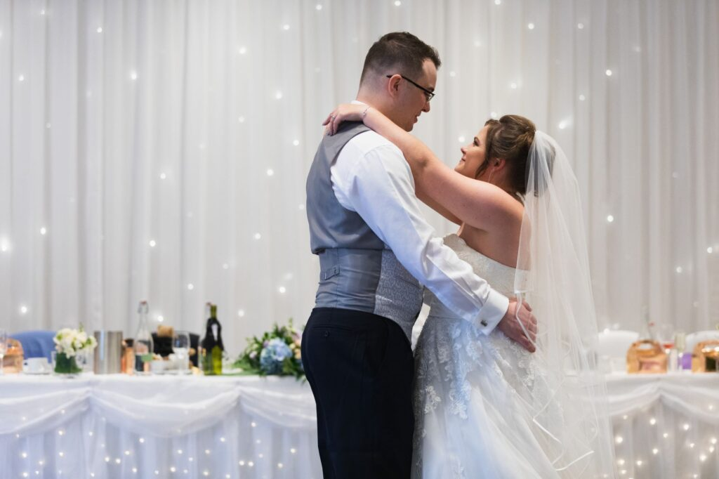 bride groom first dance milton hill house hotel steventon oxfordshire wedding photographer