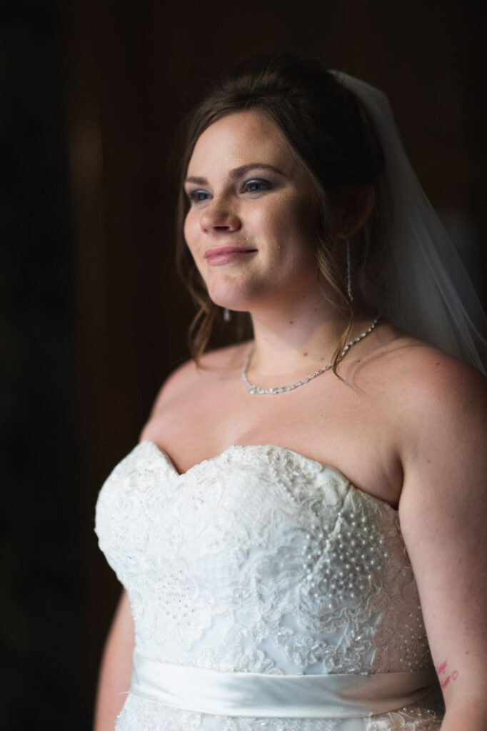 smiling bride milton hill house hotel steventon oxford wedding photography