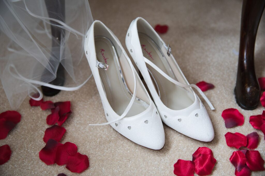 brides shoes bridal prep milton hill house marriage steventon oxford wedding photographers