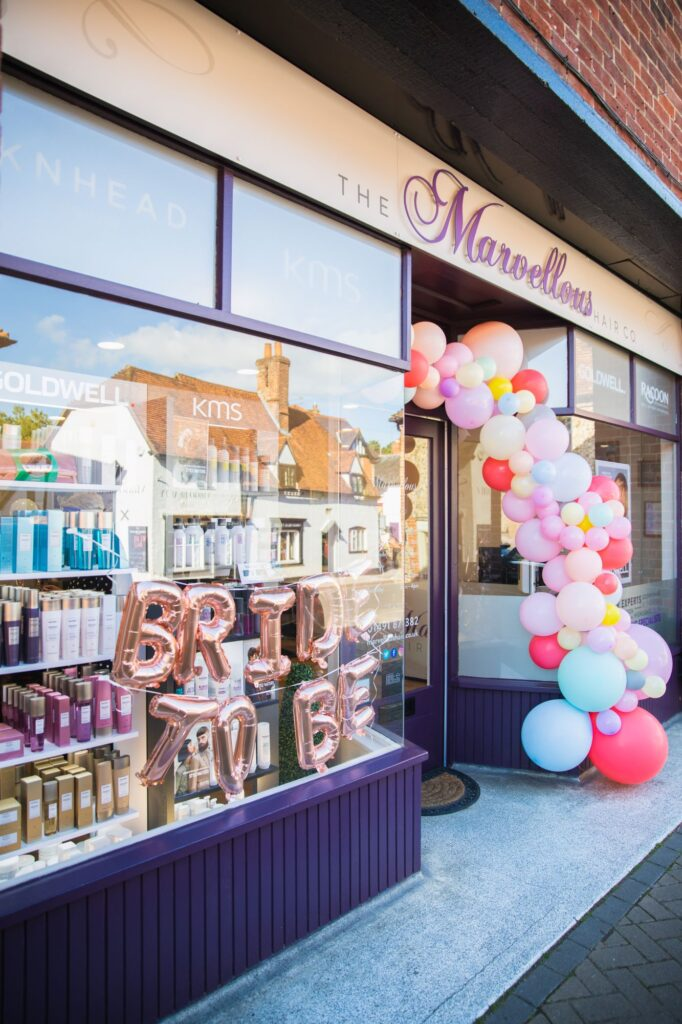 balloon decorations marvellous hair company goring reading bridal preparation oxford wedding photography