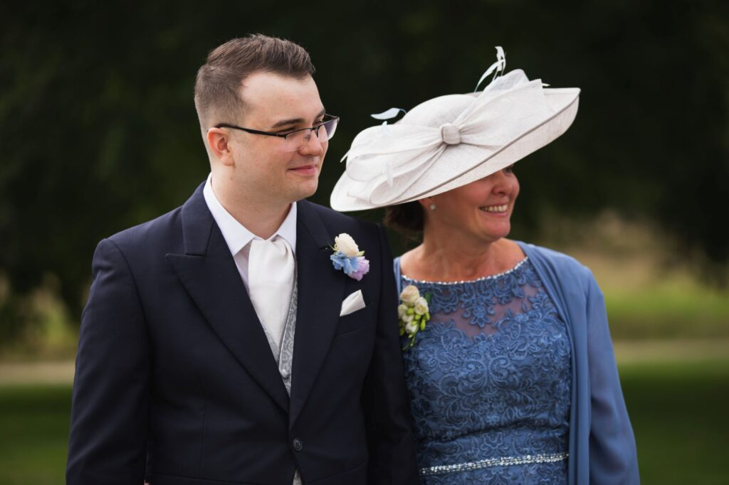 groom with mother milton hill house reception steventon oxford wedding photographer