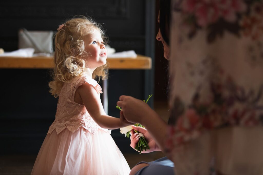 flowergirl milton hill house steventon oxfordshire wedding photographer