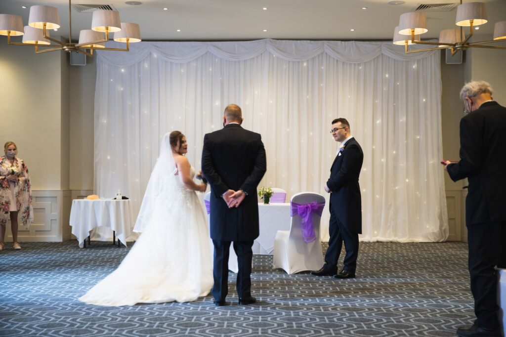 marriage ceremony begins milton hill house steventon oxford wedding photographers