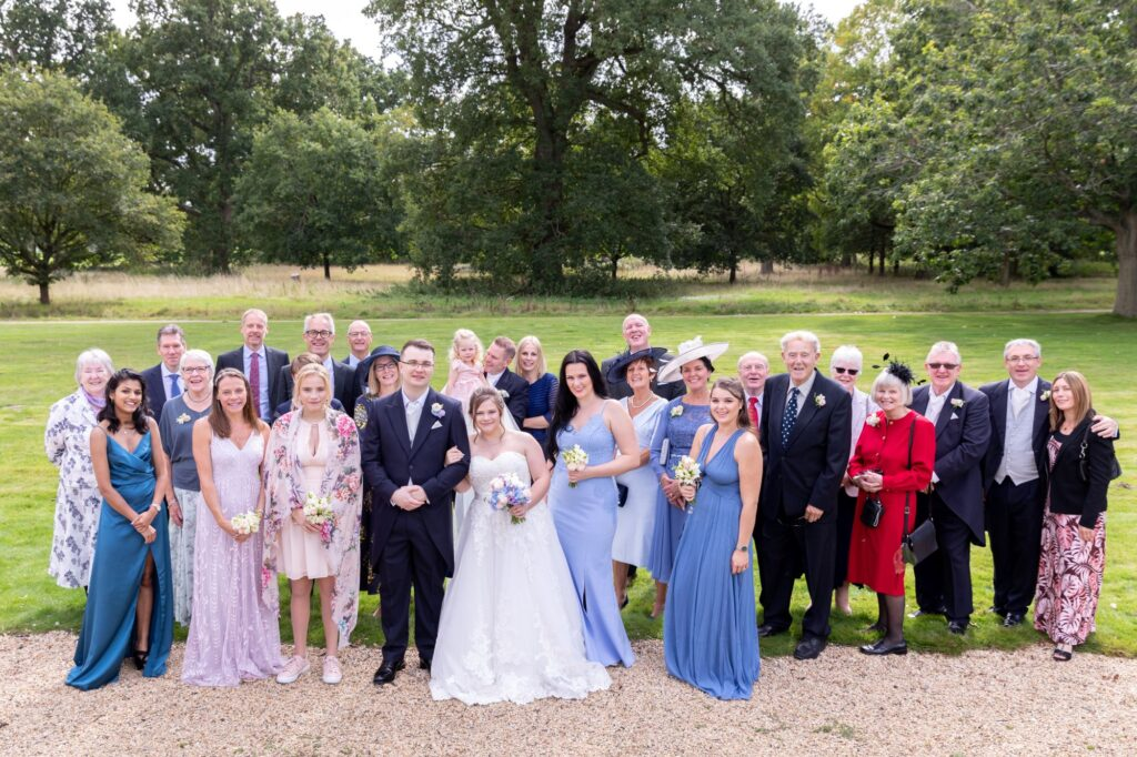wedding party traditional portrait milton hill house steventon grounds oxfordshire wedding photography