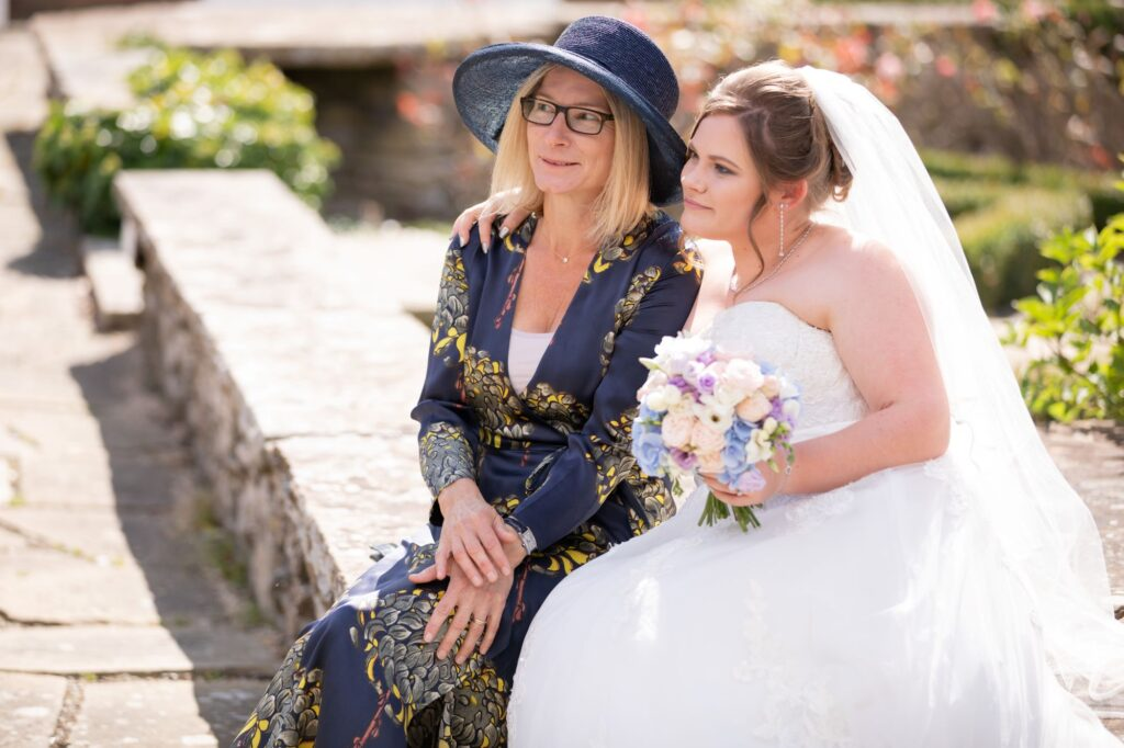 bride guest relax milton hill house garden reception steventon oxford wedding photographers