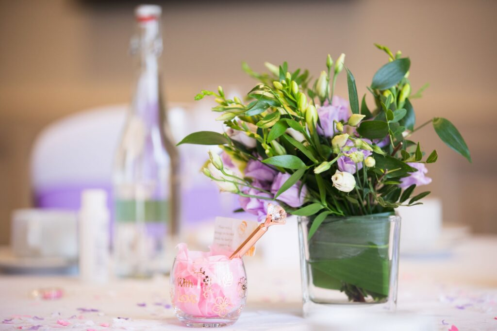 reception table decoration milton hill house steventon oxford wedding photographer