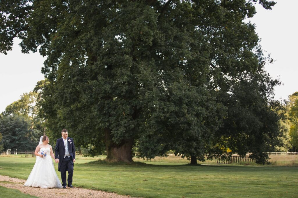 bride groom stroll milton hill house grounds steventon oxford wedding photography
