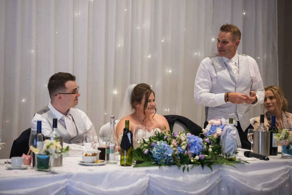 top table guest enjoy speech milton hill house reception steventon oxford wedding photographers