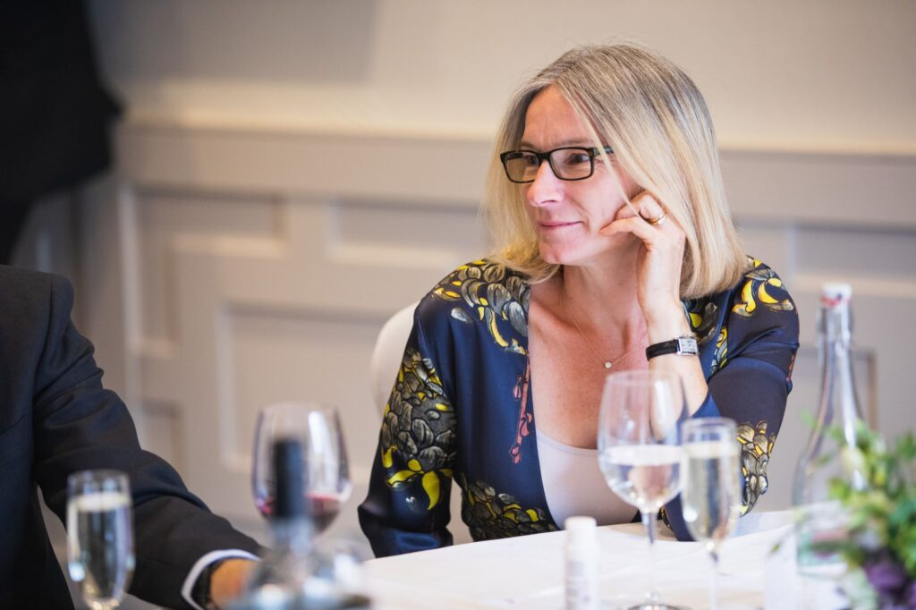 guest hears top table speech milton hill house reception steventon oxford wedding photographers