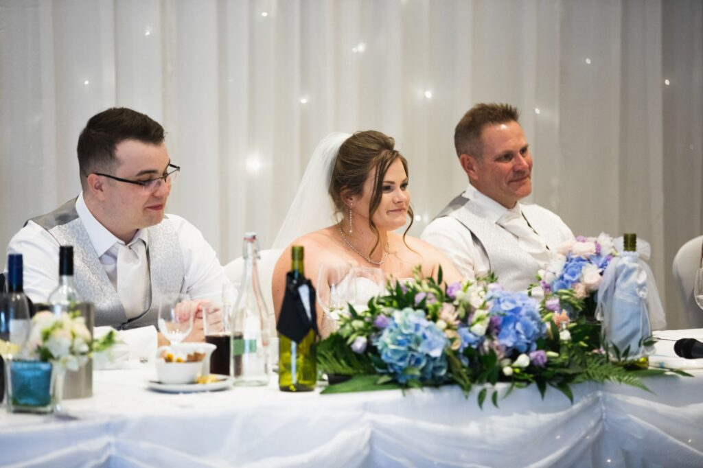 bride grooms top table milton hill house reception steventon oxfordshire wedding photographer
