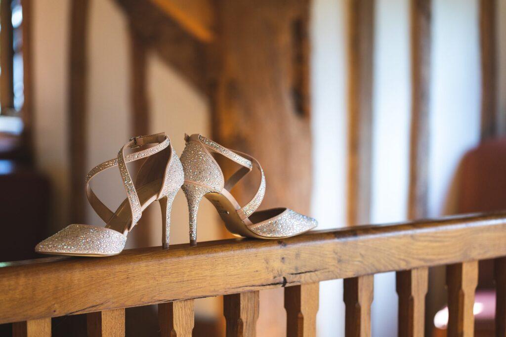 brides shoes cain manor surrey hampshire borders oxfordshire wedding photographers