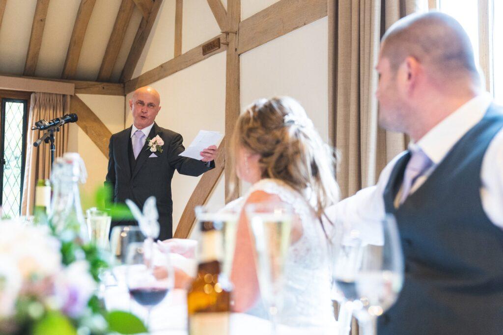 father of bride speech cain manor reception surrey oxford wedding photographer