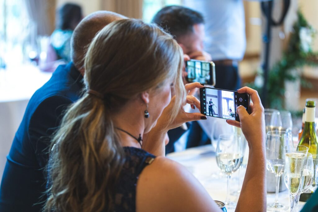 guests video grooms speech cain manor reception hampshire surrey borders oxford wedding photographer