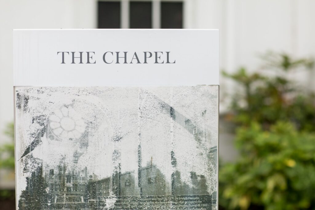 the chapel signage de vere beaumont hotel windsor oxfordshire wedding photography