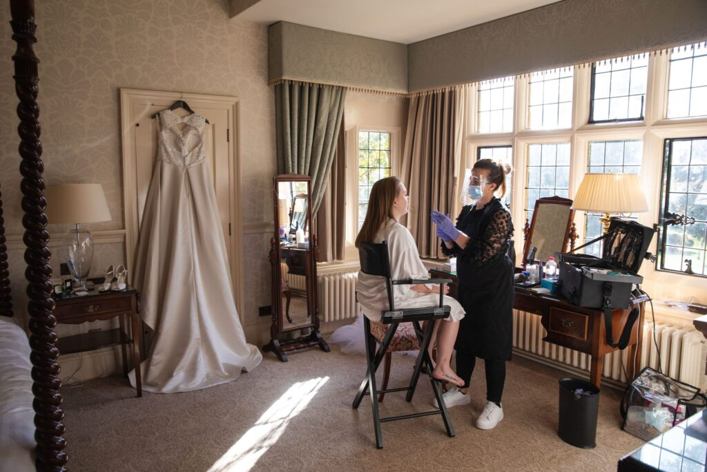 brides makeup bridal prep manor ware hertfordshire oxfordshire wedding photographer