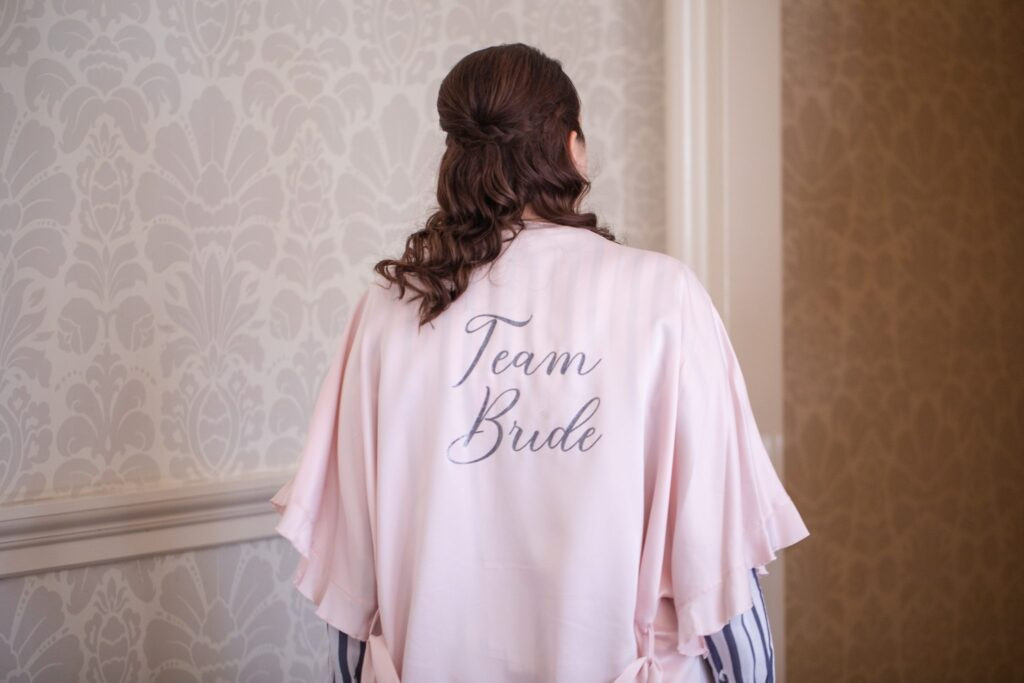 bridesmaids dressing gown bridal prep hanbury manor ware hertfordshire oxford wedding photographer