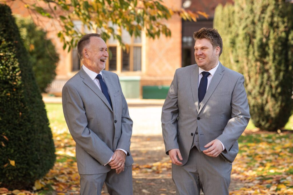 laughing grooms groomsman hanbury manor ware hertfordshire oxfordshire wedding photographer