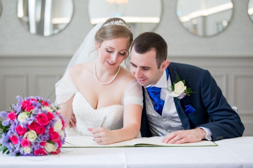 bride groom sign register de vere beaumont hotel oxfordshire wedding photography