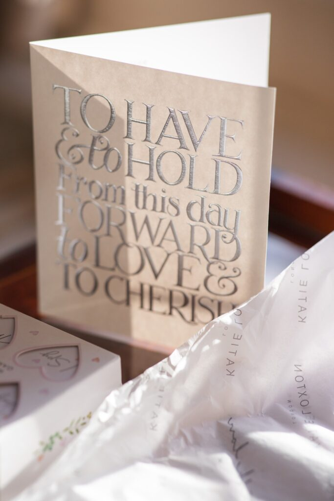brides card bridal prep hanbury manor ware hertfordshire oxfordshire wedding photography