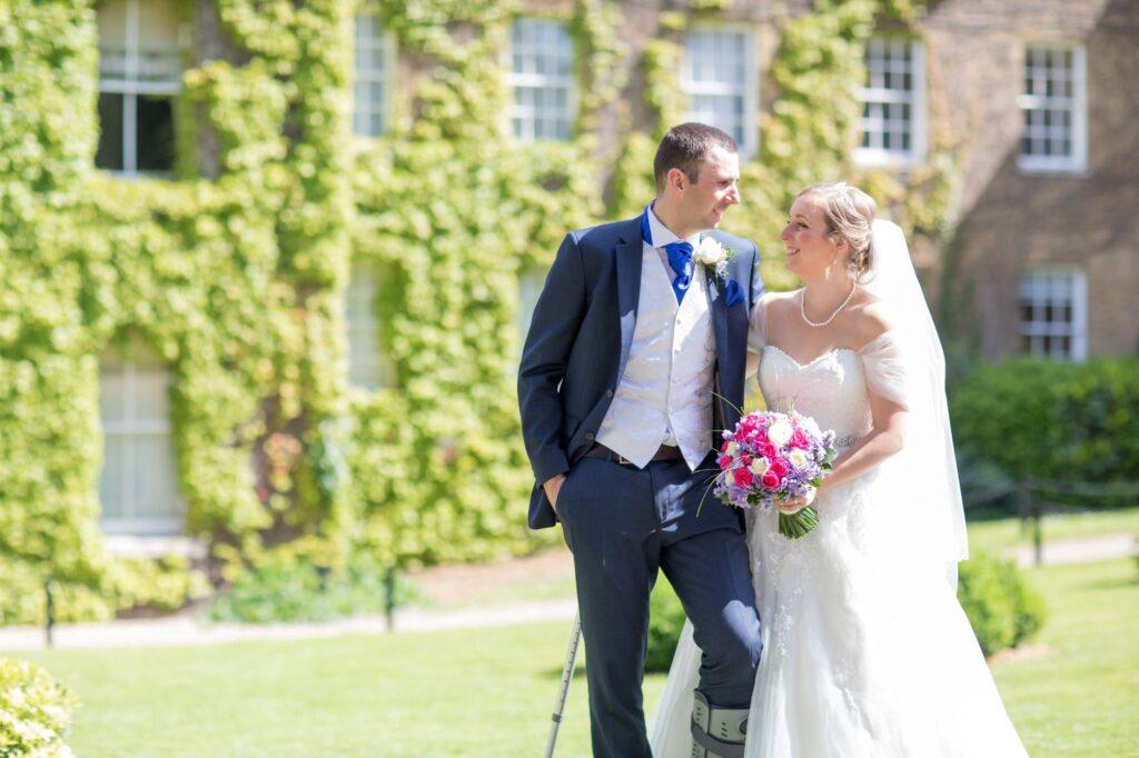 bride groom de vere beaumont hotel windsor gardens oxfordshire wedding photographer