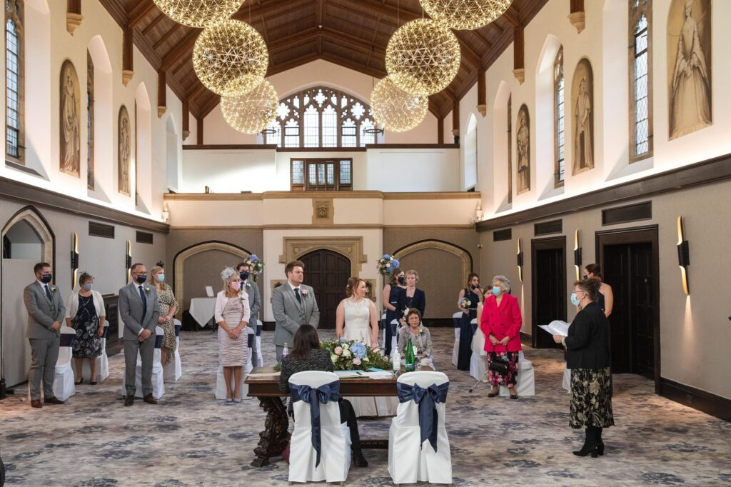 celebrant conducts marriage ceremony hanbury manor ware hertforshire oxfordshire wedding photographer