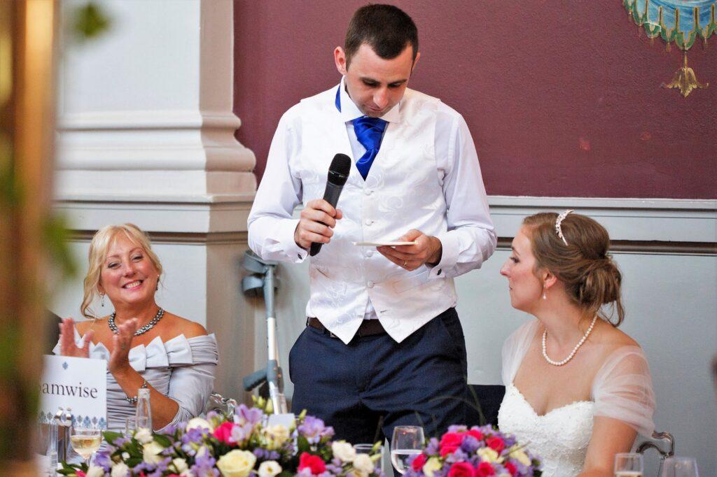 grooms top table speech de vere beaumont hotel windsor oxford wedding photographers