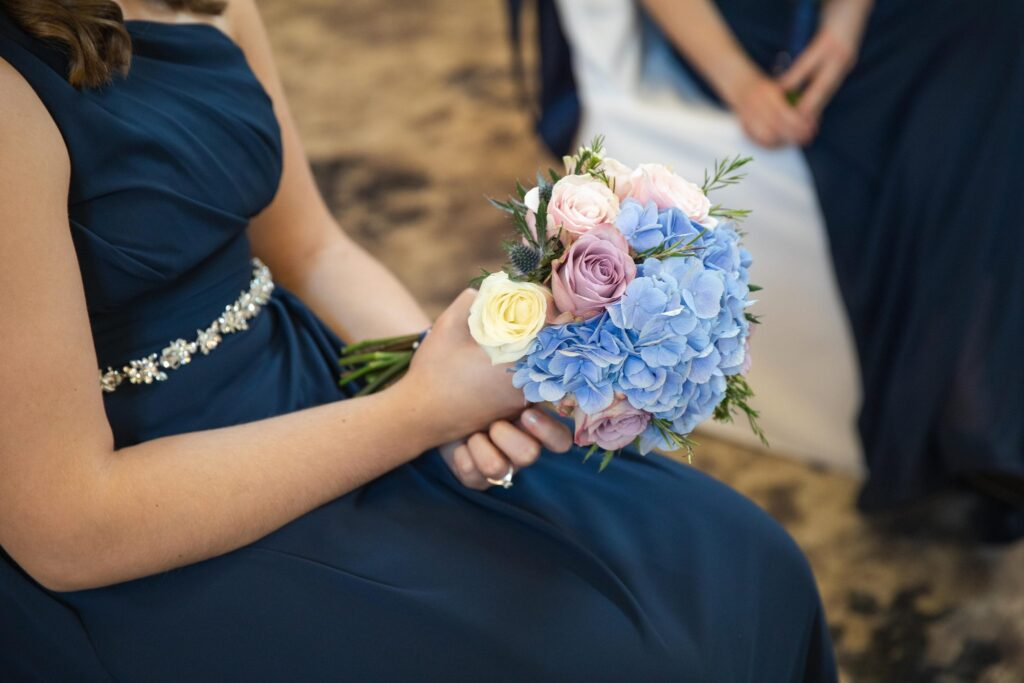bridesmaids bouquet marriage ceremony hanbury manor ware hertfordshire oxfordshire wedding photographer