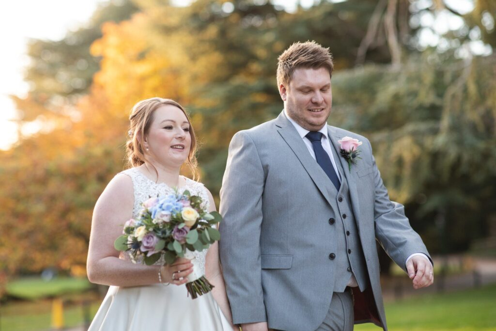 bride groom walk hanbury manor grounds ware hertfordshire oxford wedding photographer