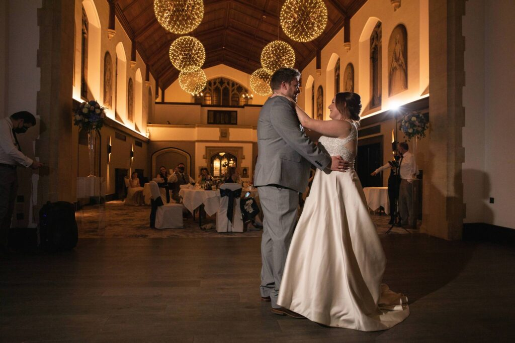 bride grooms first dance hanbury manor ware hertfordshire oxford wedding photographer