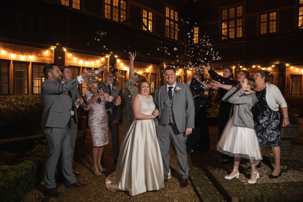 bride grooms confetti shower hanbury manor ware hertfordshire oxford wedding photographers