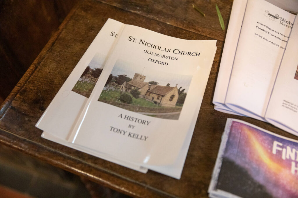 st nicholas church pamphlet old marston village oxford wedding photographer