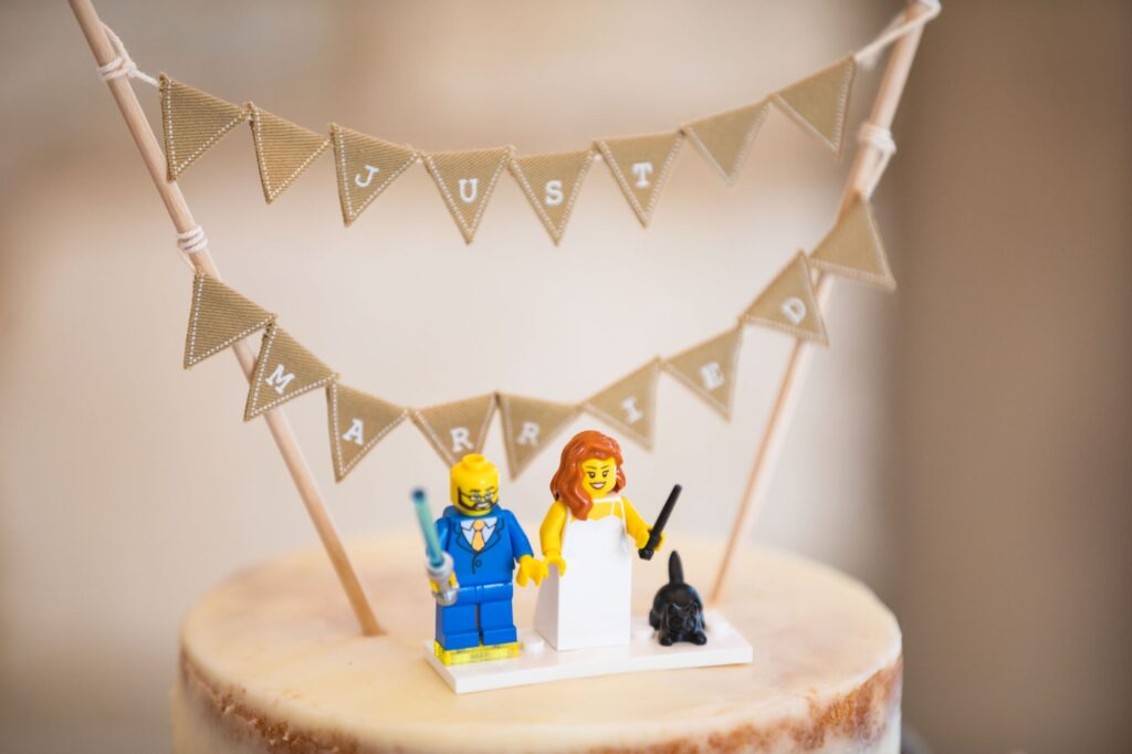 just married cake decoration caswell house venue oxford wedding photographers