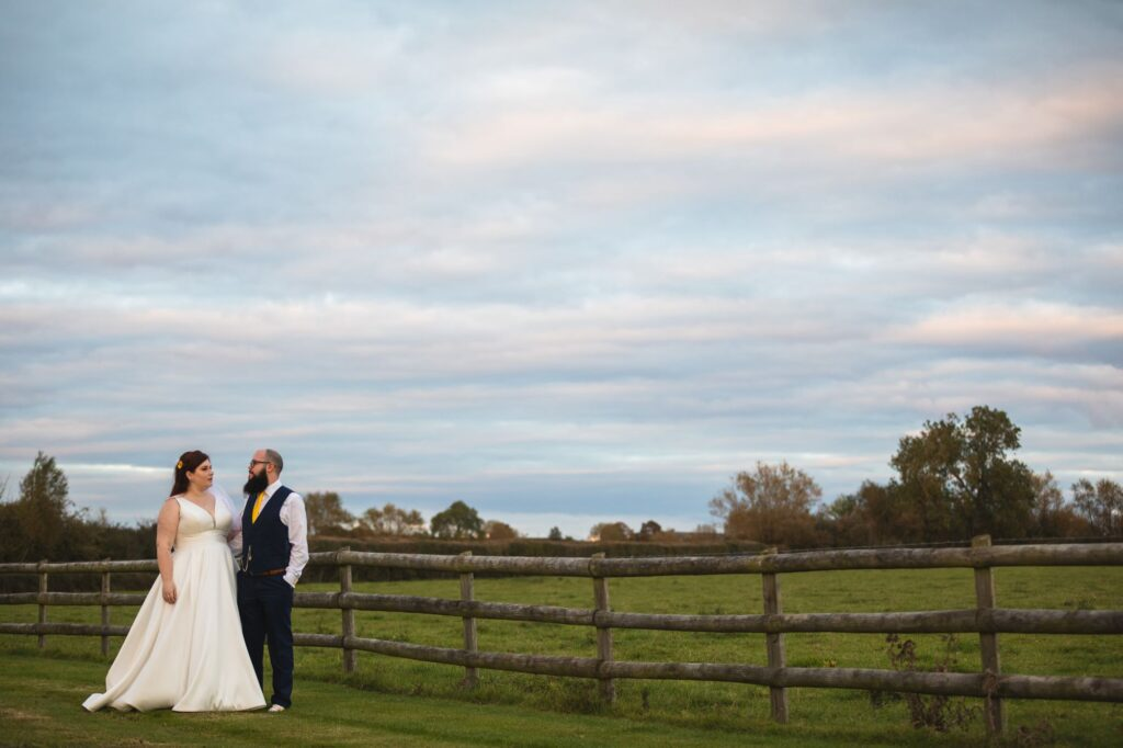 bride grooms romantic countryside moment caswell house venue oxford wedding photography