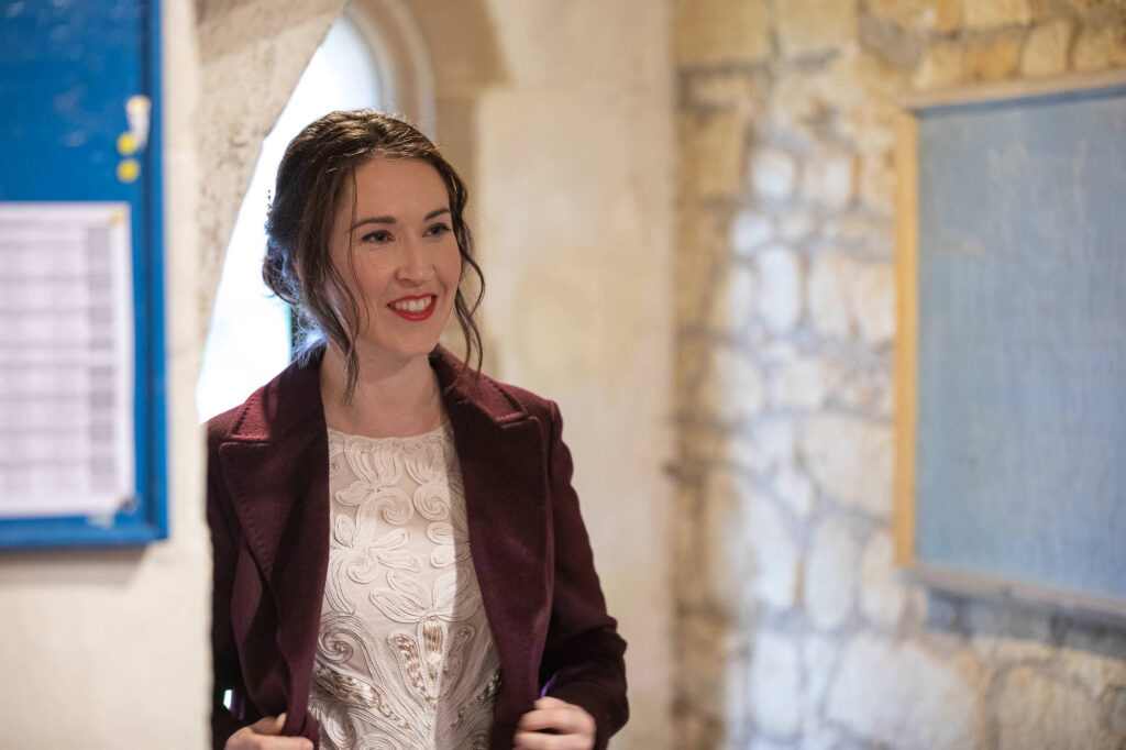 bride reveals dress st nicholas church micro wedding old marston oxford wedding photographers