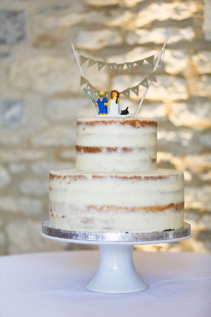decorated iced cake caswell house venue oxfordshire wedding photographer