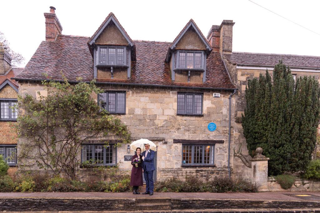 bride groom oliver cromwells house old marston village oxfordshire wedding photographers