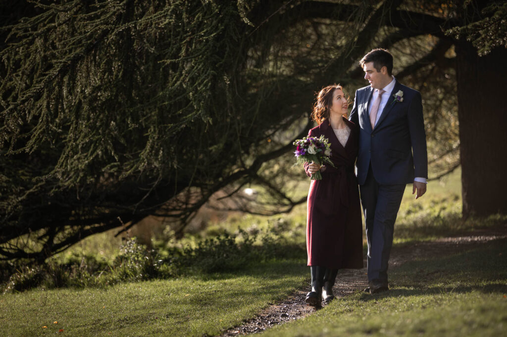 bride grooms romantic stroll blenheim palace grounds oxfordshire wedding photographer